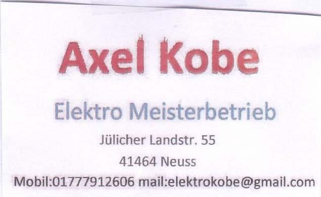 Elektromeister Axel Kobe